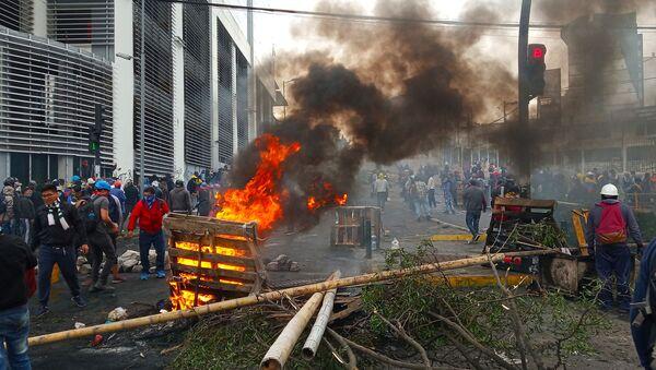 Protestas en Quito, Ecuador - Sputnik Mundo