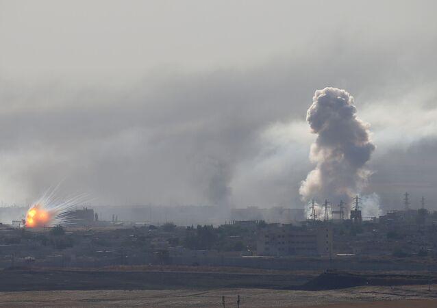 Bombardeos durante la operación militar turca en Siria