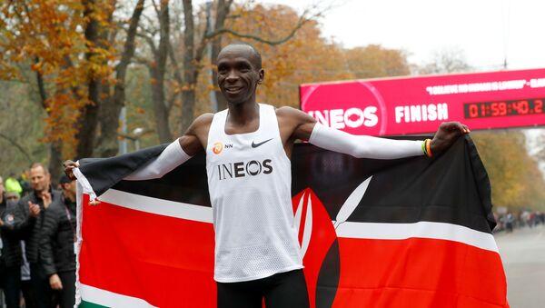 Eliud Kipchoge, maratonista - Sputnik Mundo