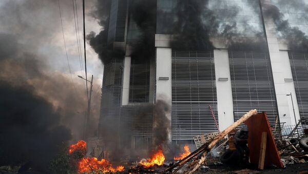 La Contraloría General de Ecuador afectada por un incendio - Sputnik Mundo