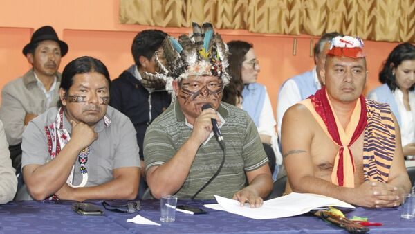 Líderes indígenas ecuatorianos (archivo) - Sputnik Mundo