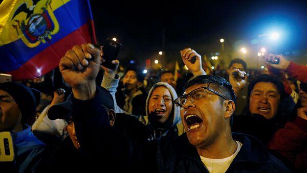Los ecuatorianos celebran la suspensión del decreto 883 - Sputnik Mundo