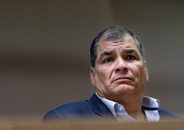 Rafael Correa expresidente ecuatoriano