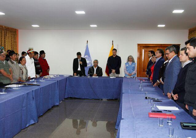 El diálogo entre el Gobierno de Ecuador y los movimientos indígenas