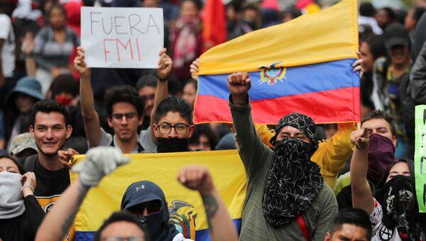 Protestas en Ecuador - Sputnik Mundo