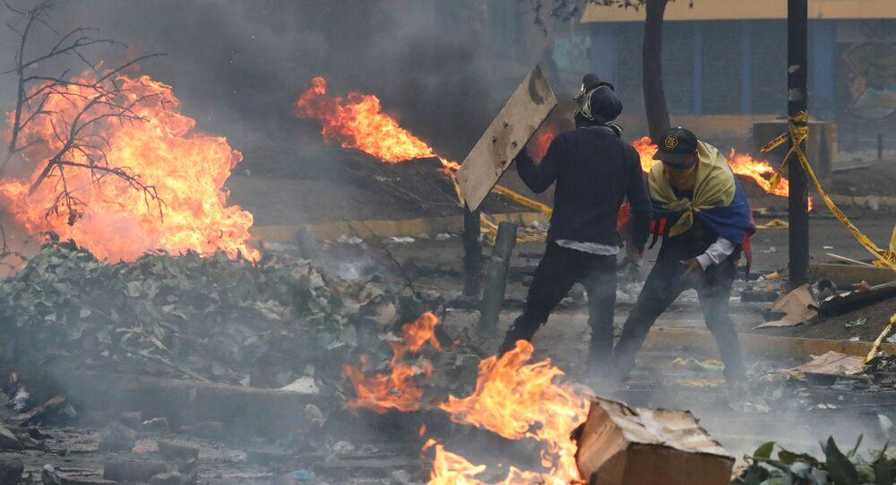 Protestas en Ecuador (Archivo)
