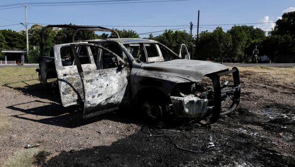 Lugar de la emboscada en Michoacán - Sputnik Mundo