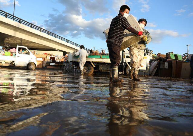 Las consecuencias del tifón Hagibis en Japón