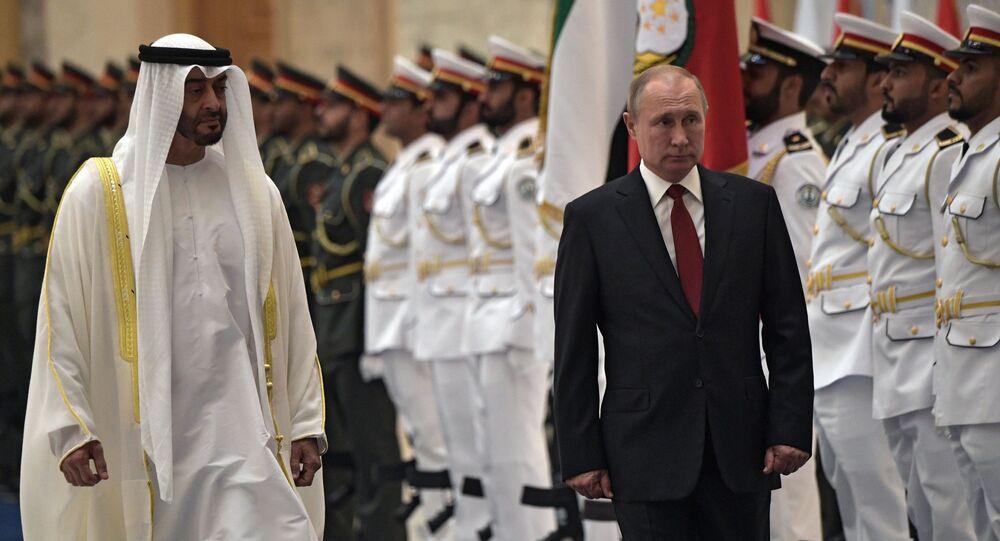 El presidente ruso, Vladímir Putin, arriba en visita oficial a Abu Dabi