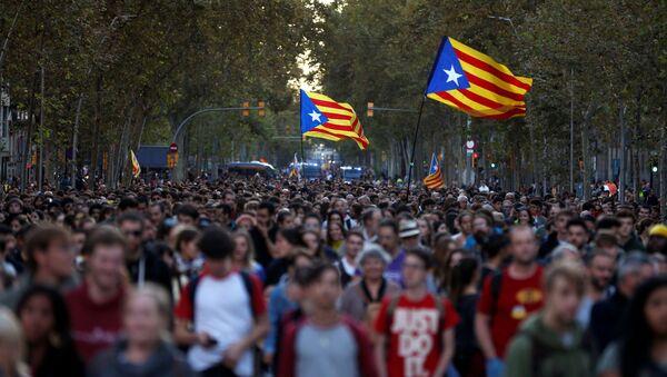 Protestas en Cataluña tras la sentencia del Tribunal Supremo - Sputnik Mundo