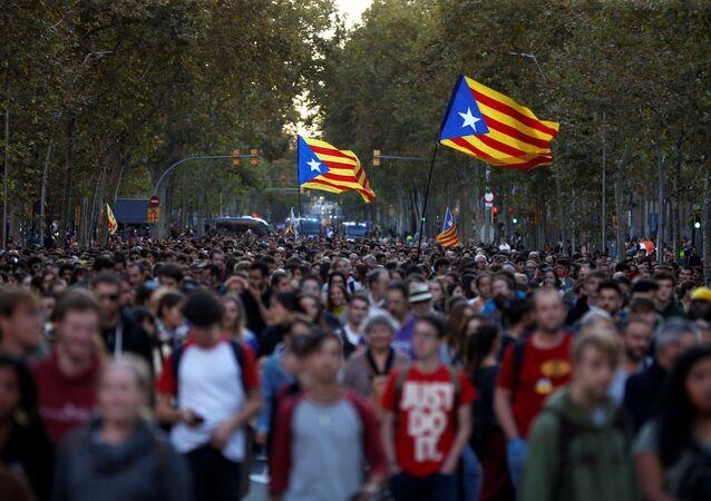 Protestas en Cataluña tras la sentencia del Tribunal Supremo