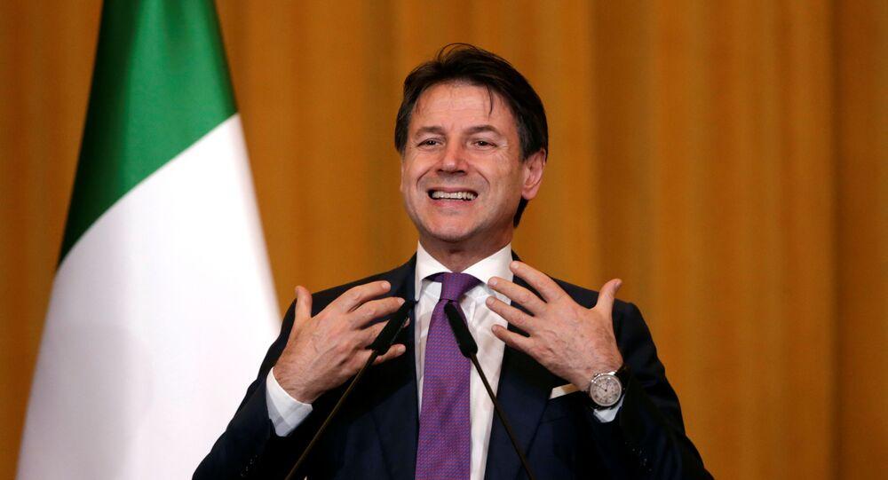 El primer ministro italiano, Giuseppe Conte
