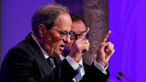 Quim Torra, el presidente del Gobierno catalán - Sputnik Mundo