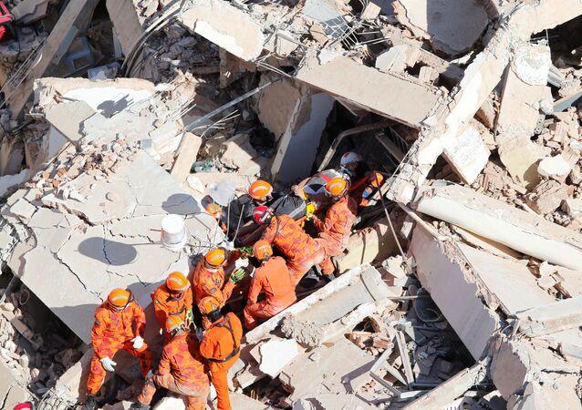 Derrumbe de un edificio en la ciudad brasileña de Fortaleza