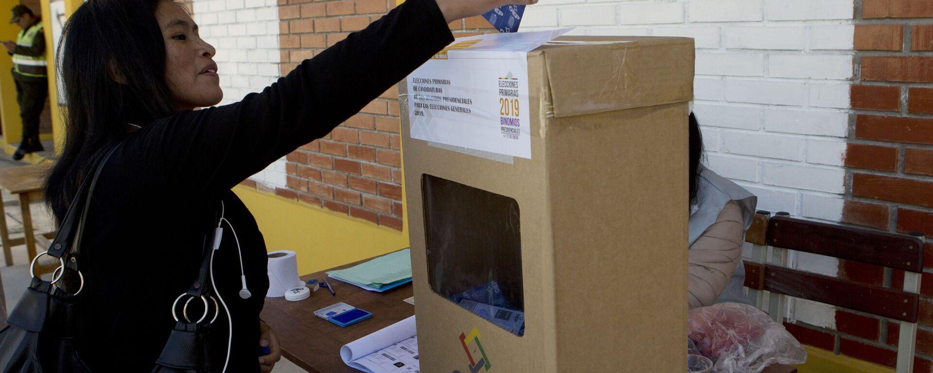 Elecciones primarias en Bolivia (archivo) - Sputnik Mundo, 1920, 28.07.2021