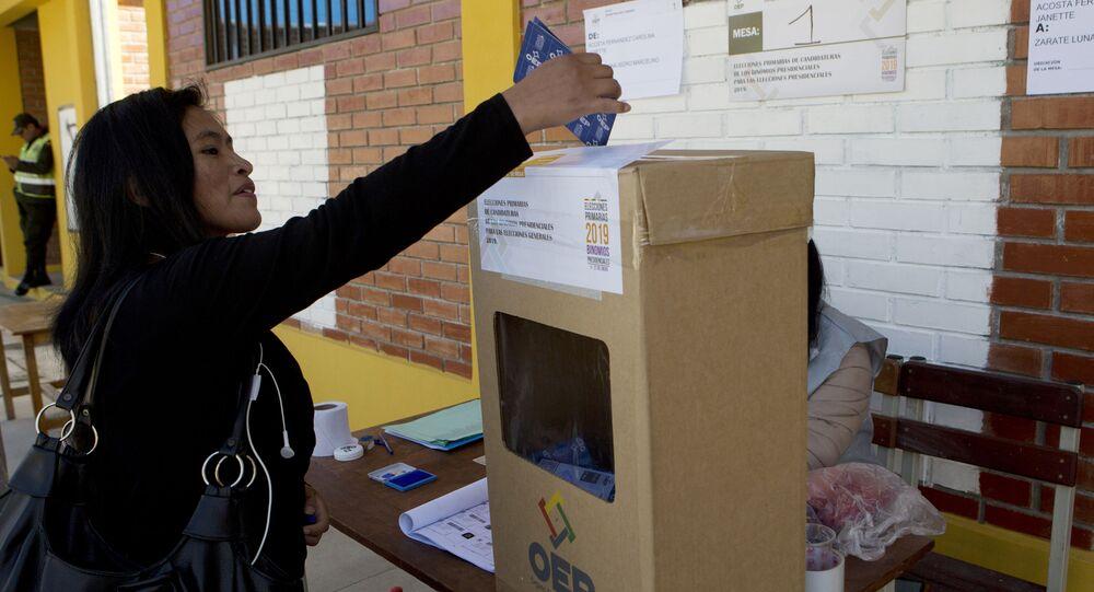 Elecciones primarias en Bolivia (archivo)