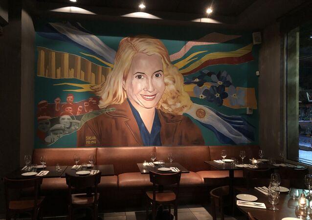 El Santa Evita, restaurante militante