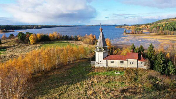 Estos paisajes dorados del norte de Rusia te dejarán sin aliento   - Sputnik Mundo