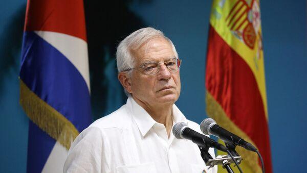 Josep Borrell, el ministro de Asuntos Exteriores de España de visita a Cuba - Sputnik Mundo