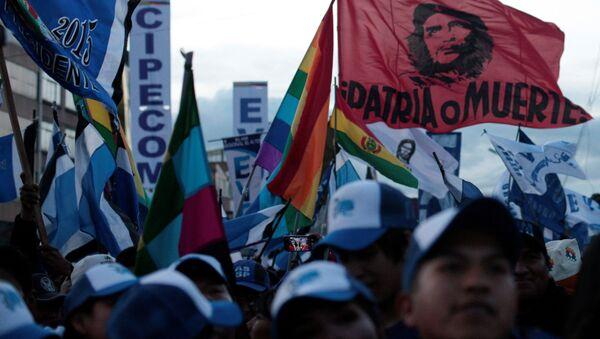 Los partidarios del presidente de Bolivia, Evo Morales - Sputnik Mundo