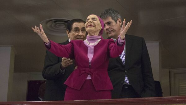 Cuba's Prima Ballerina Alicia Alonso arrives at the Grand Theater of Havana to listen to U.S. President Barack Obama deliver his speech, at the Grand Theater of Havana, Tuesday, March 22, 2016.  - Sputnik Mundo