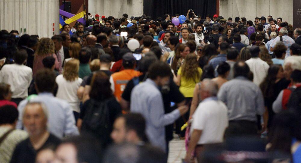 El metro de Santiago, foto de archivo