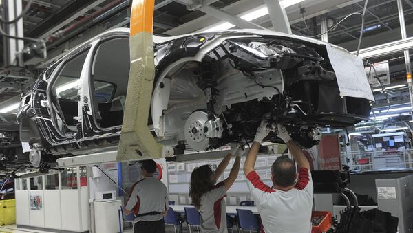 Fabrica de Seat en Martorell, España - Sputnik Mundo