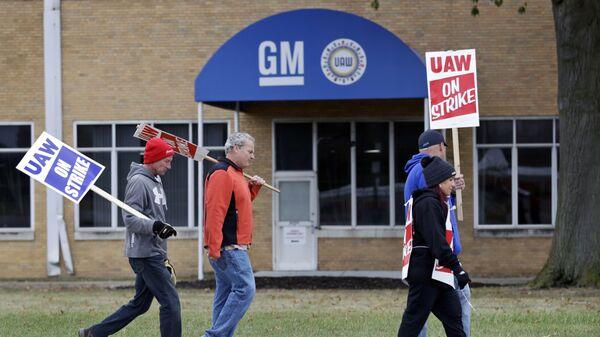 Trabajadores de General Motors en EEUU - Sputnik Mundo