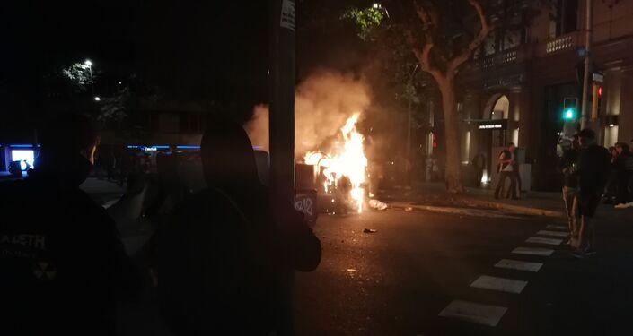 Protestas en Barcelona, España