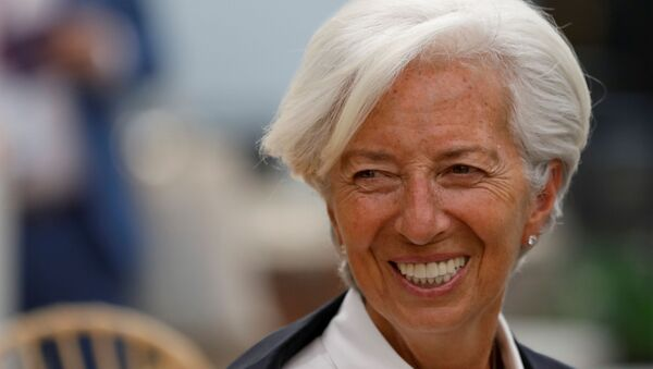 Christine Lagarde, presidenta del Banco Central Europeo - Sputnik Mundo