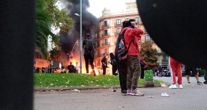 Protestas contra la sentencia del procès en Barcelona