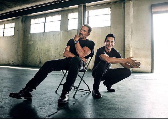 Arnold Schwarzenegger y Gabriel Luna, actores estadounidenses