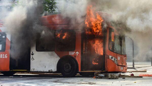 Nuevas protestas en Chile - Sputnik Mundo