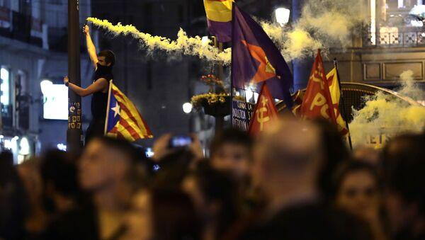 Protestas en Madrid - Sputnik Mundo