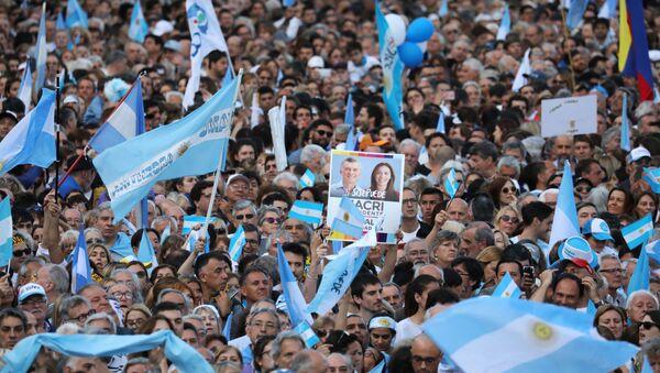 Movilización de partidarios de Mauricio Macri - Sputnik Mundo