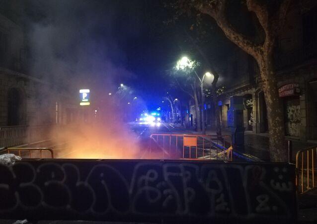 Protestas de los independentistas en Barcelona