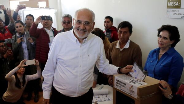 Carlos Mesa, candidato presidencial boliviano - Sputnik Mundo
