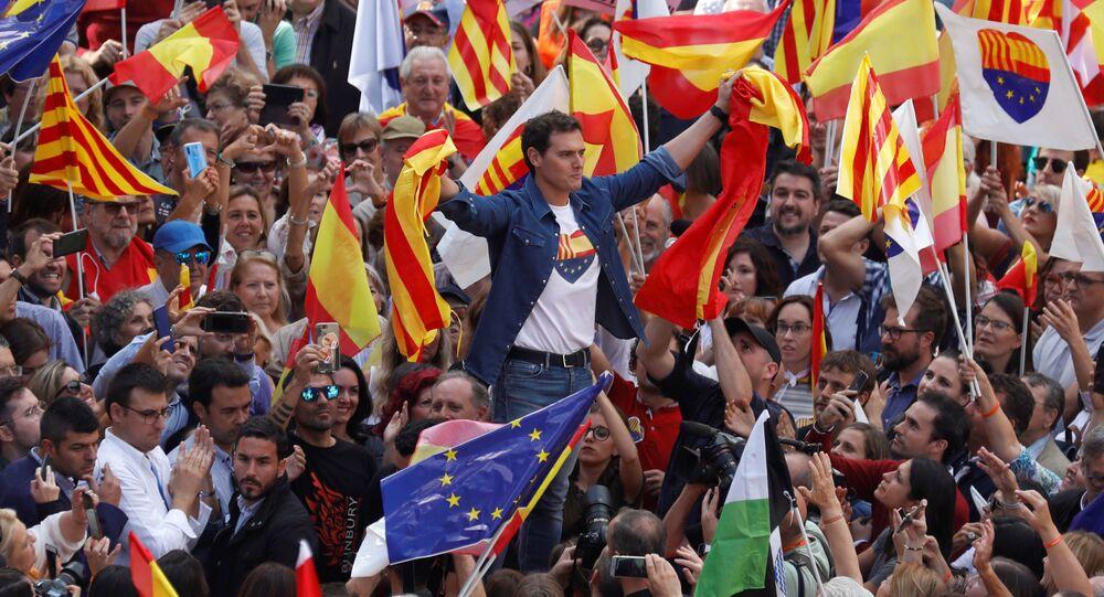 Albert Rivera, candidato español de la formación neoliberal Ciudadanos