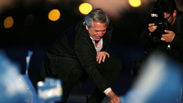 Alberto Fernández, líder de la alianza opositora Frente de Todos - Sputnik Mundo