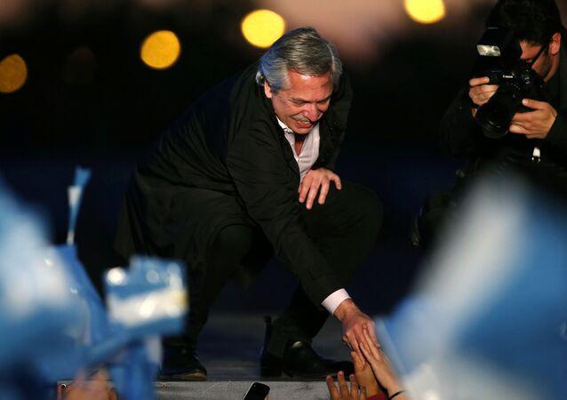 Alberto Fernández, líder de la alianza opositora Frente de Todos