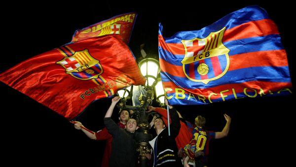 Los hinchas del FC Barcelona (archivo) - Sputnik Mundo