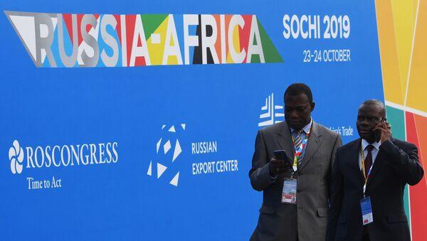 Los visitantes de la cumbre Rusia-África en Sochi, Rusia - Sputnik Mundo