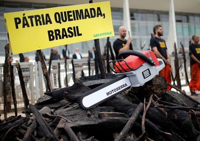 Protestas de Greenpeace en Brasil
