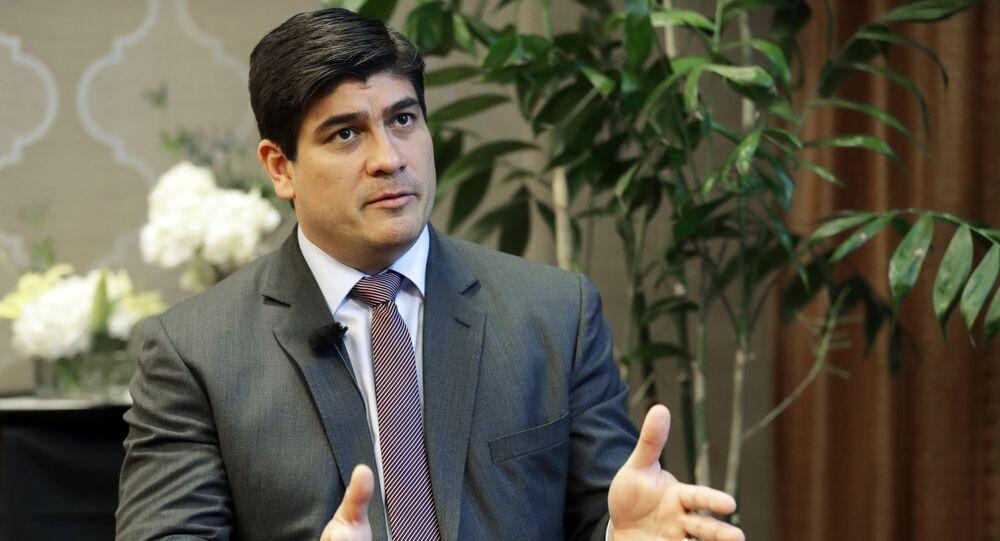 Carlos Alvarado, presidente de Costa Rica (archivo)