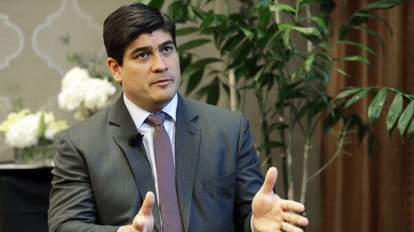 Carlos Alvarado, presidente de Costa Rica - Sputnik Mundo