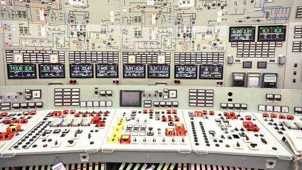 El panel de control de la Central nuclear de Kola (Rusia) - Sputnik Mundo