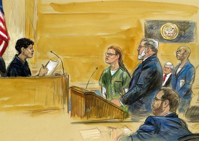 Un dibujo del juicio de María Bútina