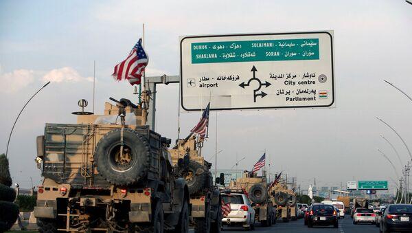 Un convoy de tropas de EEUU en Siria (archivo) - Sputnik Mundo