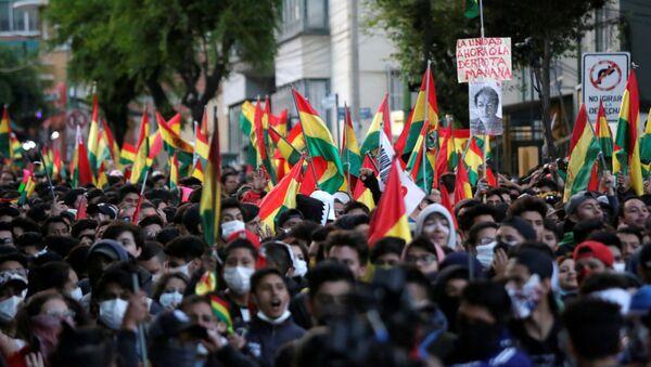 Las protestas contra la reelección de Evo Morales en Bolivia  - Sputnik Mundo