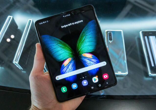 Un teléfono inteligente Samsung Galaxy Fold